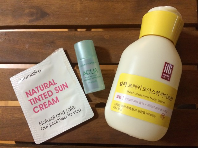 This week's samples: aromatica, Nature Republic and illi