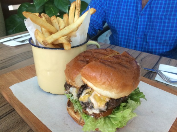 The Aussie beef burger with cheese... amazing!
