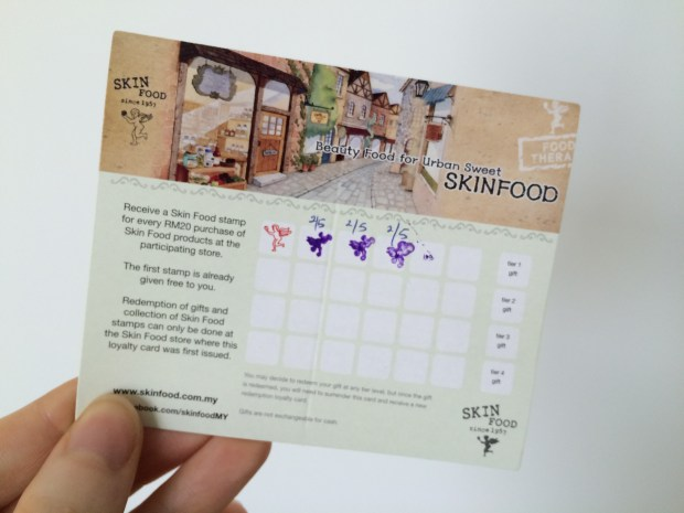 My Skinfood loyalty card