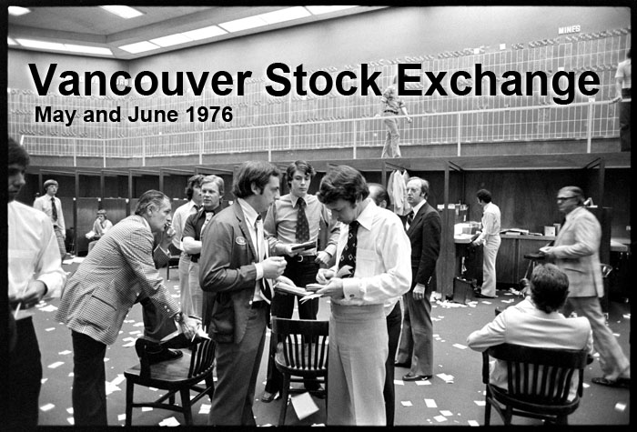 The trading floor of the Vancouver Stock Exchange in May or June of 1976.