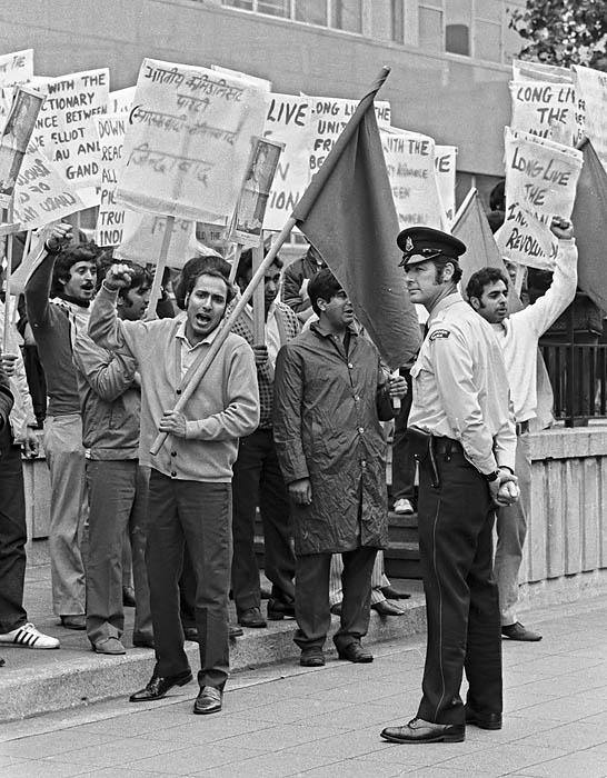 Indira Gandhi protest in Vancouver
