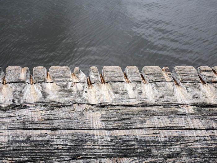 Railing on the Ambleside Wharf