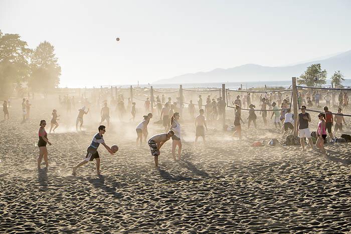Beach volleyball on Jericho Beach