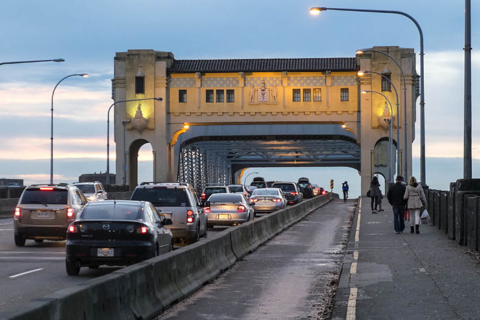 Bicycles on Burrard Street Bridge