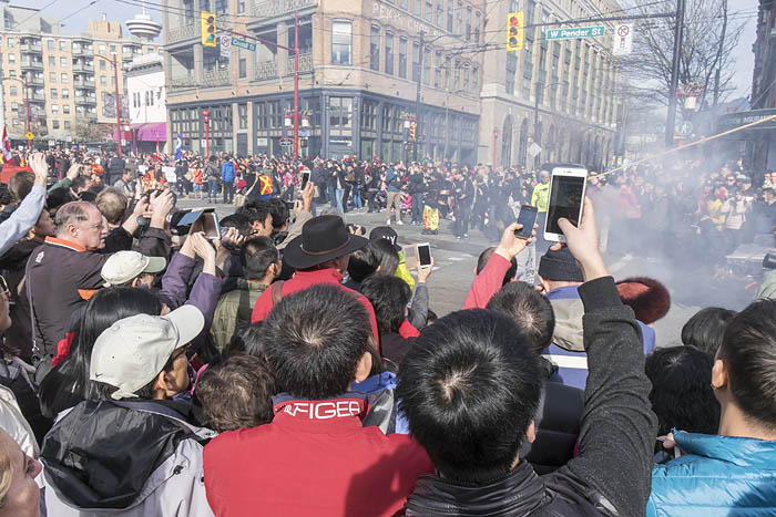 Photographers at Chinese New Years parade 6