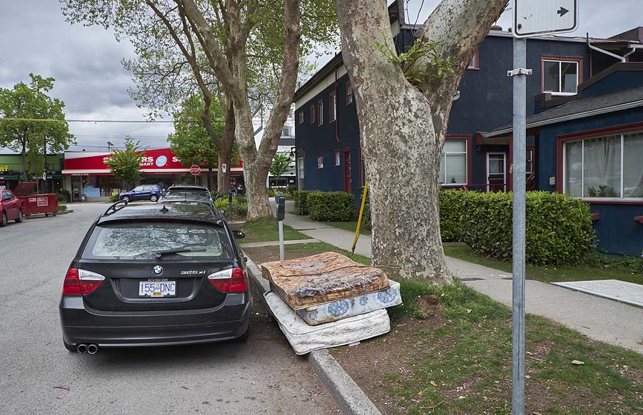mattresses abandoned in Vancouver