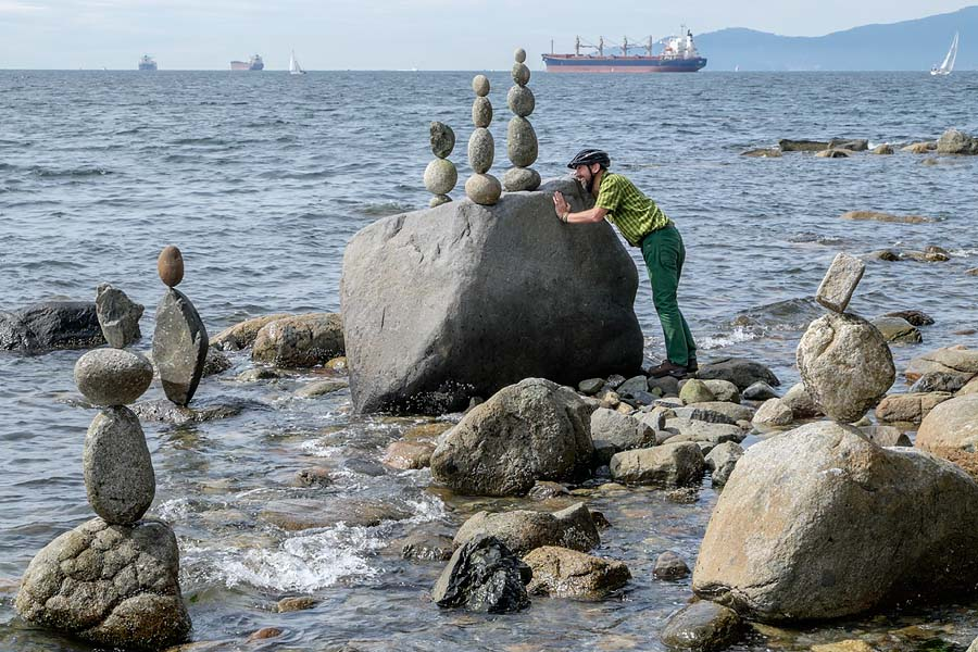 Rock balancing Vancouver