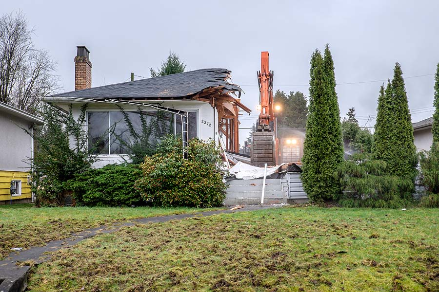 House demolished in Vancouver