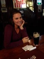 Enjoying the best Guinness ever in Dublin, Ireland (October 2014)