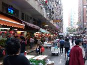 Street life in Hong Kong