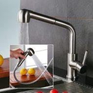 Niederdruck Mischbatterie Küche Homelody ausziehbare Brause 360 Grad