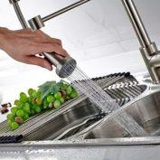 Mischbatterie Küche Timaco Einhandmischer, nickelgebürstet, oxidationsresistent, roststabil