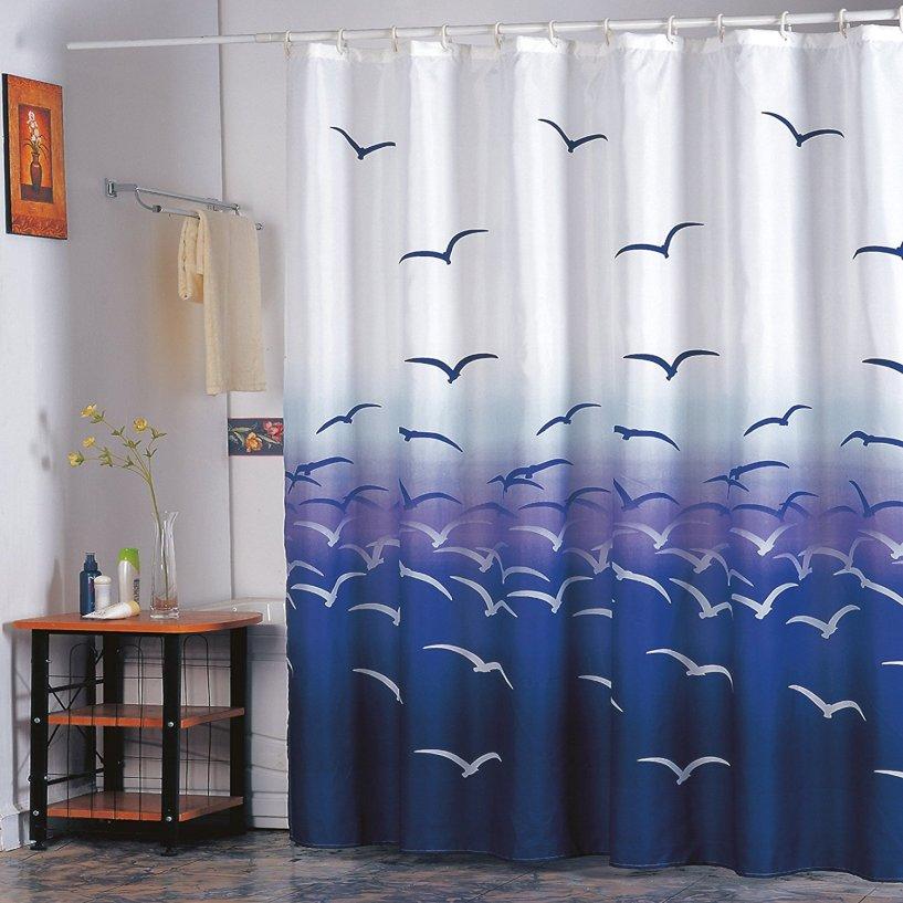 Duschvorhang 180x200 antibakteriell, wasserdicht, Anti-Schimmel