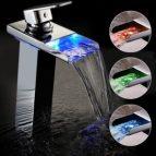 Mischbatterie Wasserfall mit LED Bonade