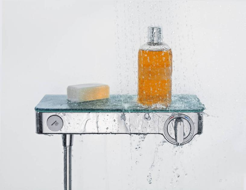 Grohe Thermostat für die Dusche mit Ablagefunktion