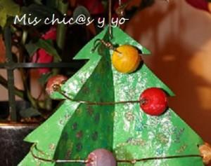 árbol-de-Navidad cartulina