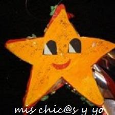 Estrella de Navidad para decorar Mis chics y yo