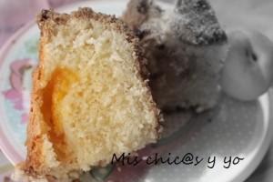 Poción pastel de albaricoque natural