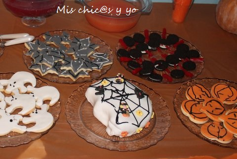 Galletas mantequilla y fondant Halloween