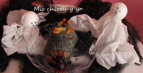 Halloween mug cake