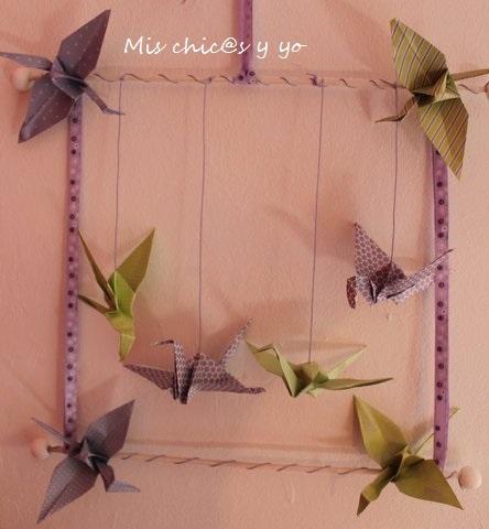 Móvil origami paso a paso