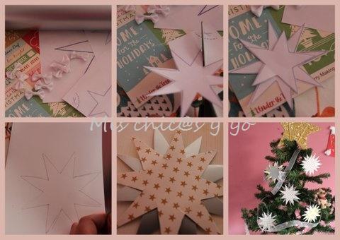 Plantillas De Estrellas Para Decorar.Estrellas De Cartulina Para Decorar El Arbol De Navidad