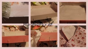 Manualidad con cajas de fresas decoradas