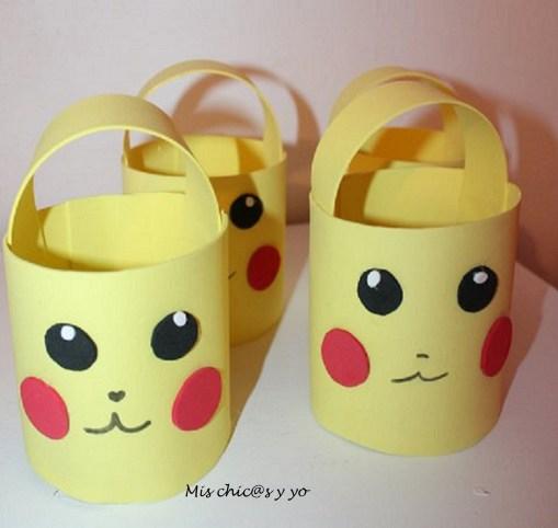 Cestos de caramelos con motivo de Pikachu