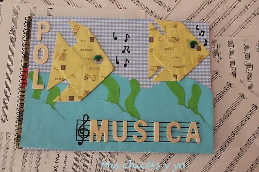 libreta decorada peces origami