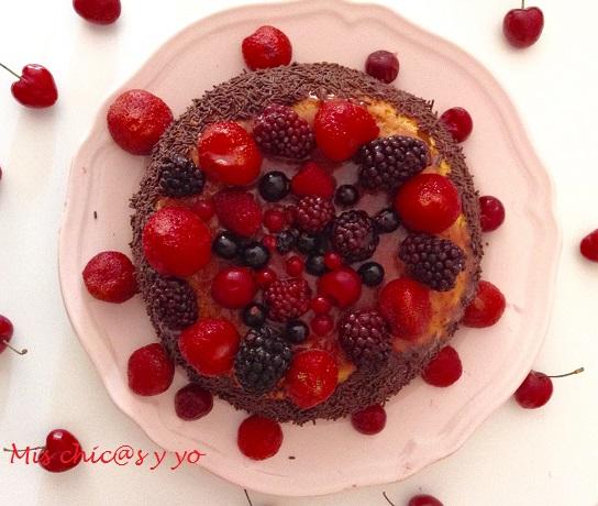 Receta de tarta frutas del bosque