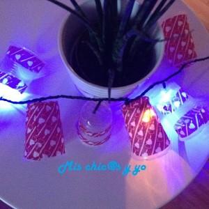 Guirnalda con vasos de papel
