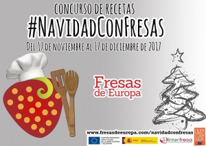 Cartel concurso de #Navidadconfresas de Fresas Europa
