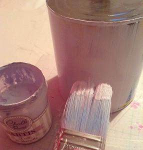 Manualidad con chalk paint
