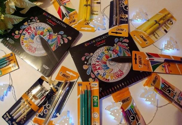 Bolígrafos y colores Bic