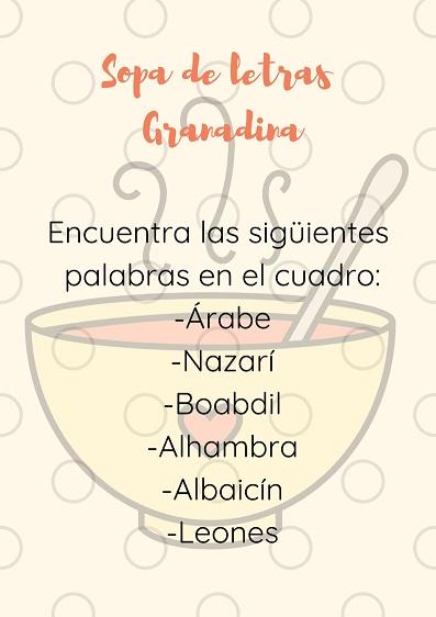 Pasatiempos Granada, cuaderno viajero