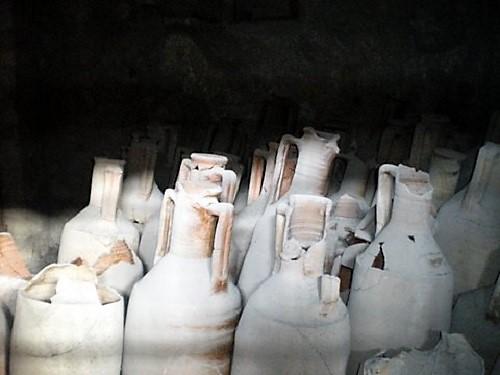 Anforas romanas almacenadas en Oplontis, Villa de Popea