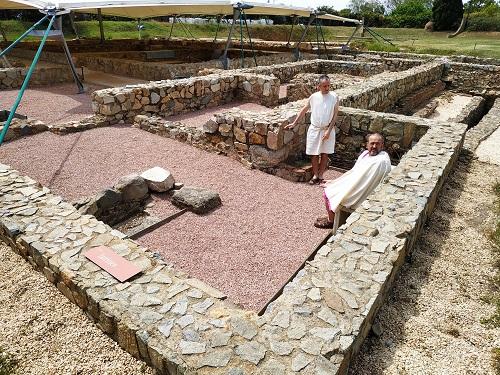 zona de letrinas romanas en Torre Llauder