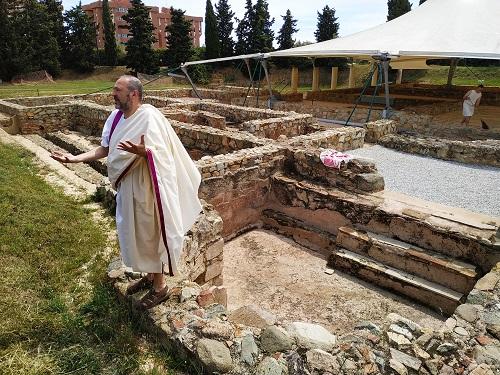 Zona de las termas en la villa romana Torre Llauder