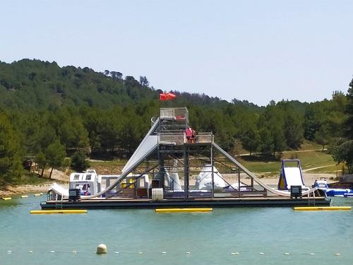 Parque Aquaviva en el lago de la Cavayère