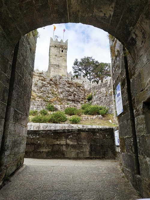 Detalle de la fortaleza de Baiona