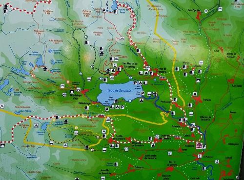 Plano del lago de Sanabria