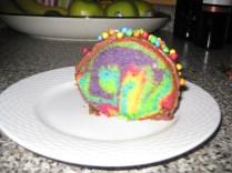 Donut Rainbow Cake piece