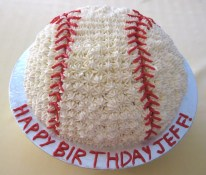 Baseball Cake finished - aerial view