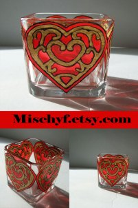 Legend of Zelda inspired container heart candle holder. Only found at mischyf.etsy.com