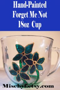 Forget Me Not 18oz glass cup