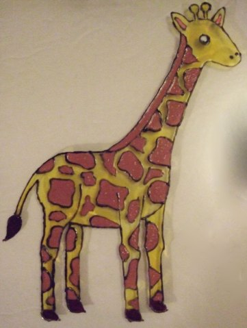 giraffe painting yellow body https://mischyf.com/giraffe-birth-announcement/