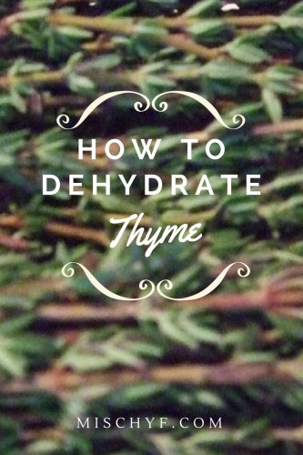 How to dehydrate thyme Pin