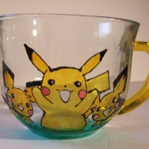 Pikachu and Pichu Friends Cup, Drinking, Juice, Coffee, Tea, Hot Chocolate