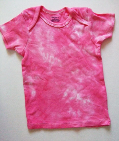 Bright Pink Tye-dyed T-shirt