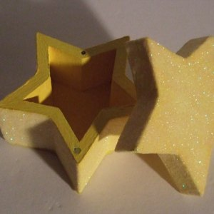 Glitter Star Trinket Ring Box